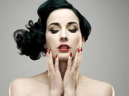 the very glamourous dita von teese knows makeup when i heard that she had done a collaboration with art deco a german brand sold all over the world