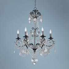 vienna full spectrum crystal 6 light black nickel chandelier inside stunning vienna full spectrum crystal chandelier