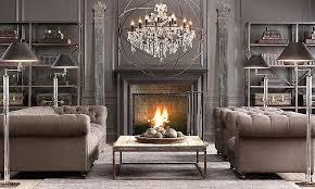 image of modern crystal orb chandelier