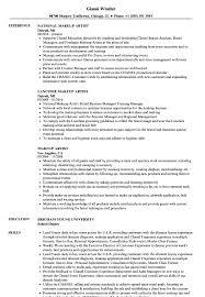 makeup artist resume sle as image file