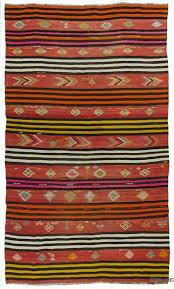 red vintage sivas kilim rug