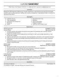 example of restaurant resume resume for a restaurant job professional food restaurant resume