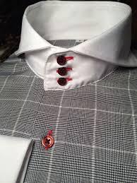 sns morcouture glen plaid cutaway collar shirt mon ulrich baseball collar shirt how to get lipstick get makeup sns off white shirtshow