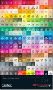 Blick Studio Markers Color Chart Artist Loft Alcohol Markers Color Chart Www