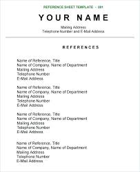 Resume Professional References Professional Reference List Template ...