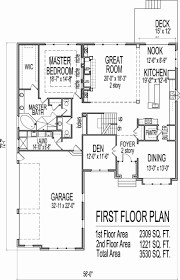2 Bedroom 3 Car Garage House Plans Lovely House Drawings 5 Bedroom 2 Story House  Floor Plans With Basement