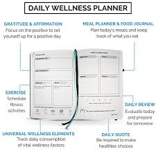 Daily Food Planner Amazon Com Food Journal Fitness Diary With Daily Gratitude And