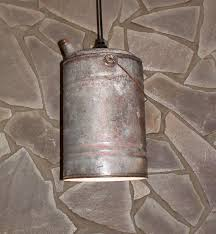 repurposed lighting. Antique Gas Can Light Repurposed Lighting Industrial By UpReNew, $42.00