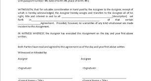 Document Template : Assignment Agreement Template Legal Business ...
