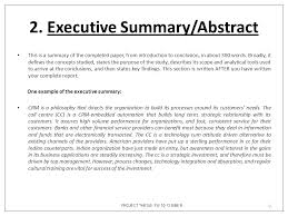 PROJECT THESIS FW ISBE B Executive Summary Abstract This is