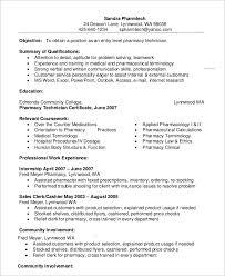 Pharmacy Technician Resume Templates Impressive Example Entry Level Pharmacy Technician Resume Gallery Of Art
