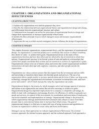 Chapter 1 Organizations And Organizational
