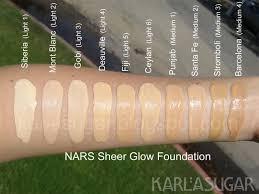 Nars Sheer Glow Color Chart Resenha No Foundation Makeup Nars Sheer Glow Foundation