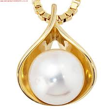 pearl necklace pearls pendant pendants 585 gold yellow gold 1 freshwater pearl 479
