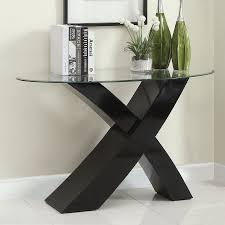 contemporary sofa tables. Furniture Of America Xtres Glass Sofa Table Contemporary Tables R