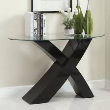 furniture of america xtres glass sofa table