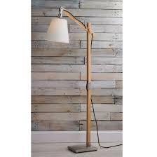 contemporary floor lighting. Modern Rustic Wood Arc Floor Lamp Contemporary Lighting R