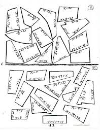 SolvingEquationPuzzle2 home on 6th grade math ratios and rates worksheets