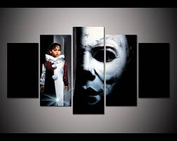 michael myers  on wall art decor michaels with print framed halloween michael myers horror picture poster home