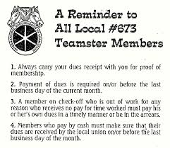 dues information