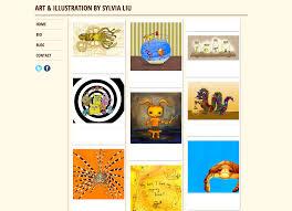 art portfolio template sylvia liu land how to make an art portfolio on blogger