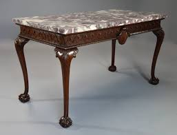 fine quality georgian style mahogany side table with marble top of william kent influence
