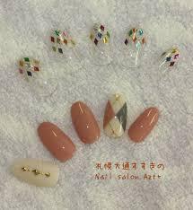 ダイヤ型だらけの秋ネイル2016 Nail Salon Azt