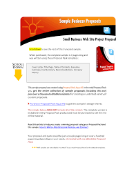 Sample Proposal For Website Design And Development Pdf Simple Business Proposal Format Templates At