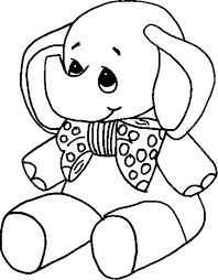 Elefantino Con Papillon Disegno Da Stampare E Colorare Per Bimbi