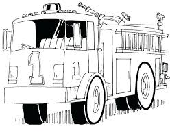 Coloring Pages Fire Truck Antiatominfo