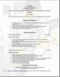 lab technician resume objective - Lab Technician Resume Objective