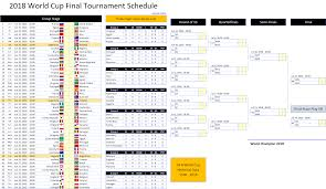 World Cup 2018 Schedule Excel Template Excel Vba Templates