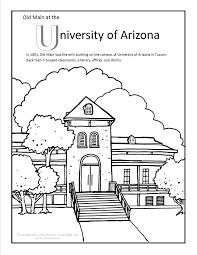 University Of Arizona Old Main Coloring
