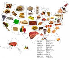 state food map  visually