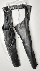 milwaukee motorcycle clothing co tm xl leather zippered chaps h2x tamarack s antiques