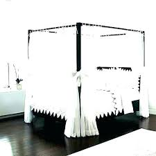 Black Canopy Bed Curtains Queen Size Blackout Be – acojais.com