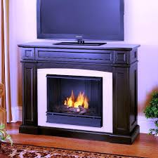 image of gel fuel fireplace tv stand