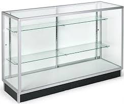 tempered glass display counters lock