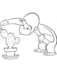 Curious George Coloring Pages To Print Simple Face Drawing Free