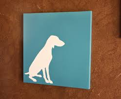 Easy Canvas Painting Diy Dog Silhouette Art Silhouettes Tutorials And Creativity