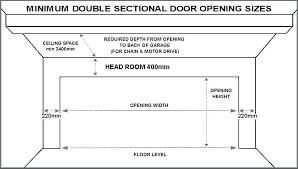 double garage door dimensions remarkable single