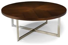 coffee table cool dark brown round modern aluminum and wood round modern coffee table laminated
