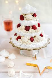 Meringue Christmas tree with whipped coconut cream, raspberries and white  chocolate truffles  a spectacular ...