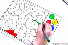 On the back is the number (to make it easier to find when upside down) as well as the 4 player. Easter Egg Color By Number Coloring Page Simple Fun For Kids