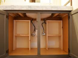 creating storage under the sink diy