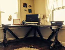 plan rustic office furniture. Incredible Diy Corner Desk Using Ana White Fancy X Plan Perfect With A Inside Rustic Office Furniture