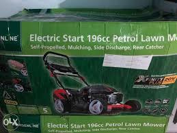 lawn mower petrol 196cc selfpropelled