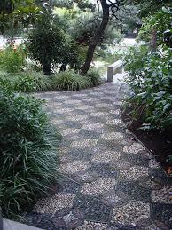 Backyards  Fascinating Flagstone Patio Set In Decomposed Granite Mosaic Garden Path