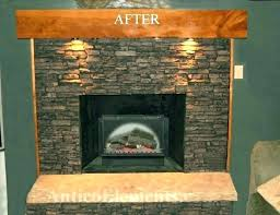 refacing brick fireplace how to reface a faux stone with concrete diy