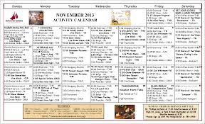 November Through November Calendars November 2013 Calendar Of Events